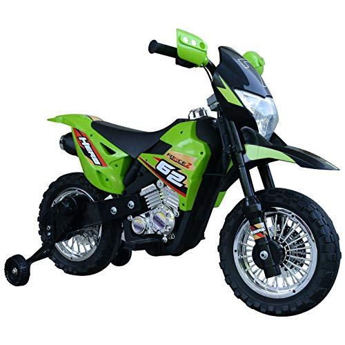 HOMCOM Moto Eléctrica Correpasillo Infantil Coche Triciclo sin Pedales para Niños 3+ Años Juguete Andador con Luces y Música Ruedas de Apoyo 107x53x70cm
