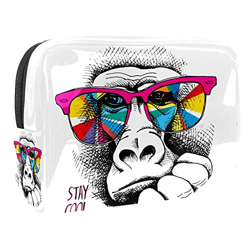 Make-up-Kosmetiktasche, multifunktional, Reise-Kulturbeutel, Organizer für Frauen – Stay Cool Brille Affe
