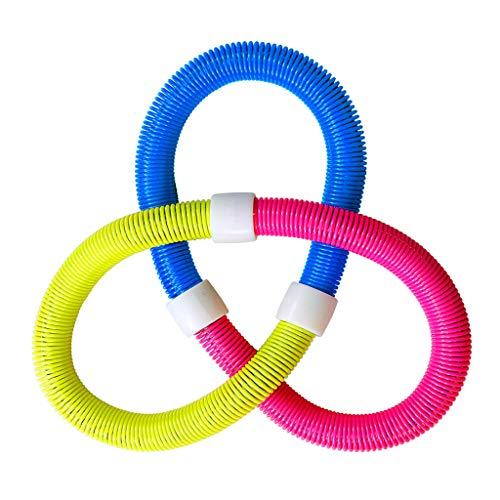 DQWGSS Fitness Weighted Hula Hoop Weight Loss Hula Hoop Soft Tube & Sturdy Frühling Yoga Gym Übung für Kid Adult Mehrfarbengroß- Perimeter 120cm
