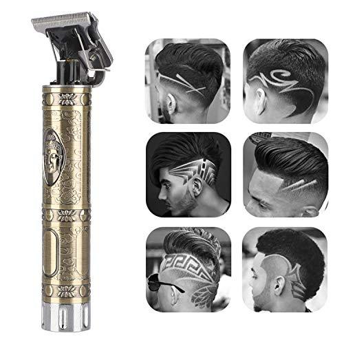 LIDIWEE Haarschneidemaschine Männer T-Blade Trimmer Profi Haarschneider USB Wiederaufladbar Akku Schnurloser Haar Trimmer Friseursalon