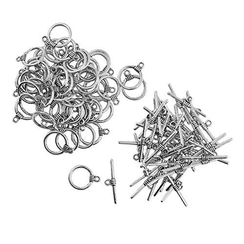 freneci 50pcs Jewelry Making Charms Pendants for Making Charm Clasps Decor