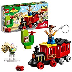 Young children will love to push Woody around on the steam train and attach Buzz Lightyear's wings to fly him in for backup Accessory elements include a bank vault, lasso and bricks decorated as money and a wanted sign - ideal story starters Includes...