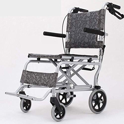 JKUNYU Silla de rehabilitación médica, silla de ruedas, silla de ruedas plegable ligero Suministros Médicos conducción médica for adultos, ancianos sillas de ruedas portátil de ancianos discapacitados