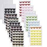 PuTwo Angoli per Foto, 15 Fogli 516 Pezzi Angoli per Foto Autoadesivi, Angoli per Montaggio FotoSenza Acidi, Adesivi per Foto, Angoli per Scrapbooking, Album Fotografici, Libri di Memoria - 11 Colori