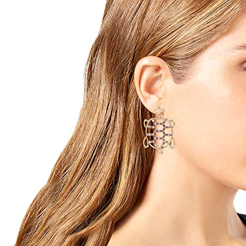 Betsey Johnson Openwork Turtle Stud Earrings