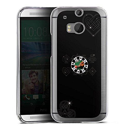 DeinDesign HTC One M8 Hülle Case Handyhülle Poker Chip Heart