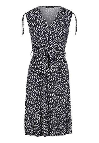 Betty Barclay Kleid Blau Weiss V-Ausschnitt10331447, Farben:Dark Blue/Cream, Grössen:46