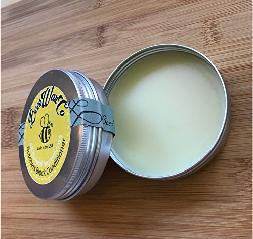 Beeswax Wood and Butchers Block Conditioner, Cleaner and Protector Wax. Renew Cutting Boards, Woods, Bamboo, Wooden Surfaces. All Natural. Works Great on Leather.