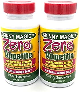 Zero Appetite® 2 Pack (30 Capsules Each), Appetite Suppressant - Weight Loss - Control Your Appetite with Raspberry Ketones, Forskolin and Fucoxanthin