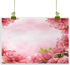 Valentine Modern Frameless Painting Framework with Romantic Roses with Leaves Bridal Wedding Marriage Corsage Bedroom Bedside Painting 20