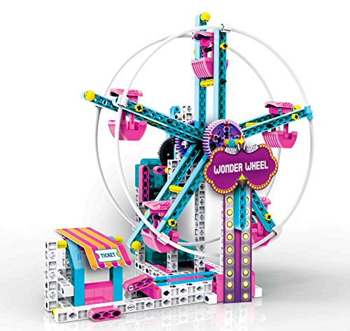 Clementoni - Laboratory of Mechanics-Luna Park Game Set, Multicoloured, 19100