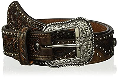 Ariat Women's Nail Wave Belt, brown, Extra Large