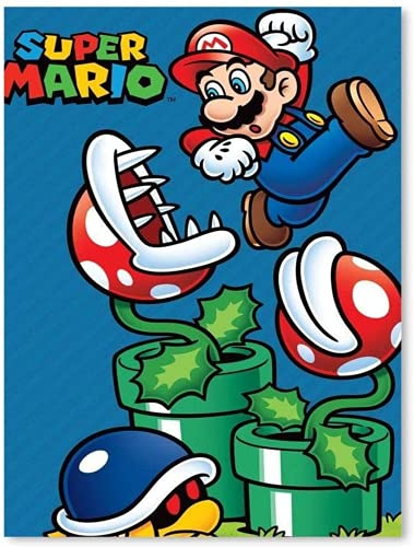 AMCYT Póster moderno de Super Mario, lienzo de pintura, dormitorio, HomeDecor ation, 20 x 30 cm (noframe, 50 x 75 cm)