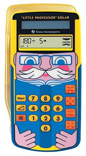 Texas Instruments Little Professor Rechentrainer (für Vor- und Grundschule, Solarbetrieben, mit 80.000 Rechenaufgaben) gelb-blau