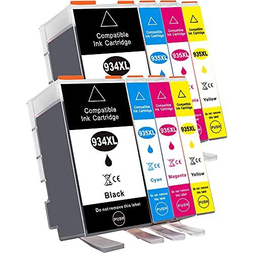 B-T Compatibile Cartucce d'inchiostro Sostituzione per HP 934XL 935XL 934 XL 935 XL Multipack per HP Officejet Pro 6830 6230 6820 6835 6812 6815 6220 Stampanti (8 Pack)