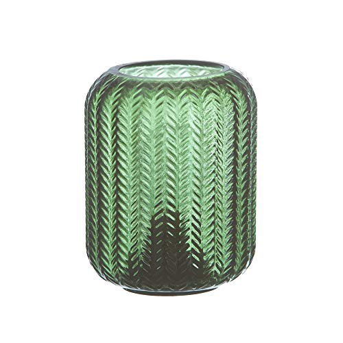 Lámpara de sobremesa exótica led a pilas, de cristal verde