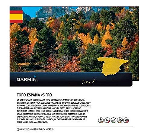Garmin - Topo Spain v6 Pro MicroSD/SD, Color 0
