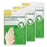 Maschera per le mani, guanti idratanti, per mani asciutte, maschera per mani asciutte, guanti da spa per migliorare l'umidità, guanti per mani asciutte, maschera esfoliante peeling delle mani