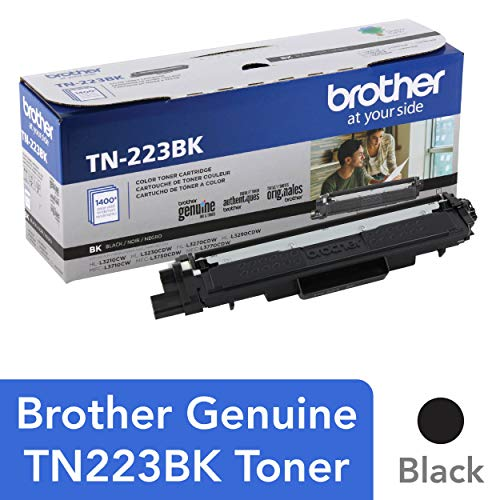 Genuine , Standard Yield Toner Cartridge, Replacement Black Toner, Page Yield Up to 1,400 Pages, TN223, Amazon Dash Replenishment Cartridge - Brother TN223BK