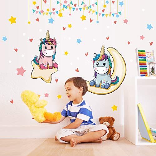 Phoenix - Adhesivos murales con diseño de unicornio para niños, para pared, dormitorio o dormitorio