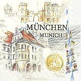 20 Servietten Stadt München | Bayern | Deutschland | Sehenswürdigkeiten 33x33cm
