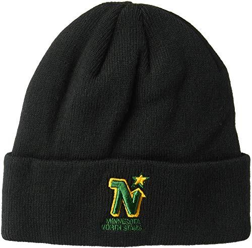 '47 Minnesota North Stars Black Cuff Beanie Hat - NHL Cuffed Winter Knit Toque Cap