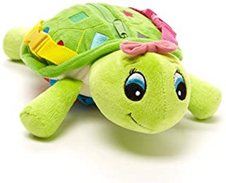 Buckle Toys Belle Turtle - Learning Activity Toy - Develop Motor Skills and Problem Solving - Easy Travel Toy