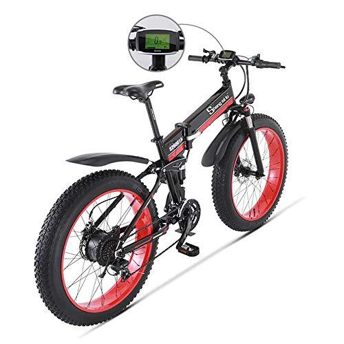 MEICHEN Bicicleta eléctrica 1000W eléctrica Bici de la Playa 4.0 Fat Tire...