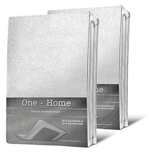 one-home one-home 2er Pack Spannbettlaken 90x200 Bild