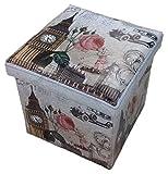 GMMH Hocker Sitzhocker London Original Box Aufbewahrungsbox Sitzwürfel Truhe Fußbank
