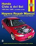 Honda Civic & Del Sol (92 - 95) (Haynes Automotive Repair Manuals)