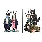 Mini Office Depot Demon Slayer: Kimetsu no Yaiba Notebook, Cute Cartoon Notebook School School Supplies para tomar notas y dibujar, Colección El mejor regalo para los fanáticos del Anime(Style 10)