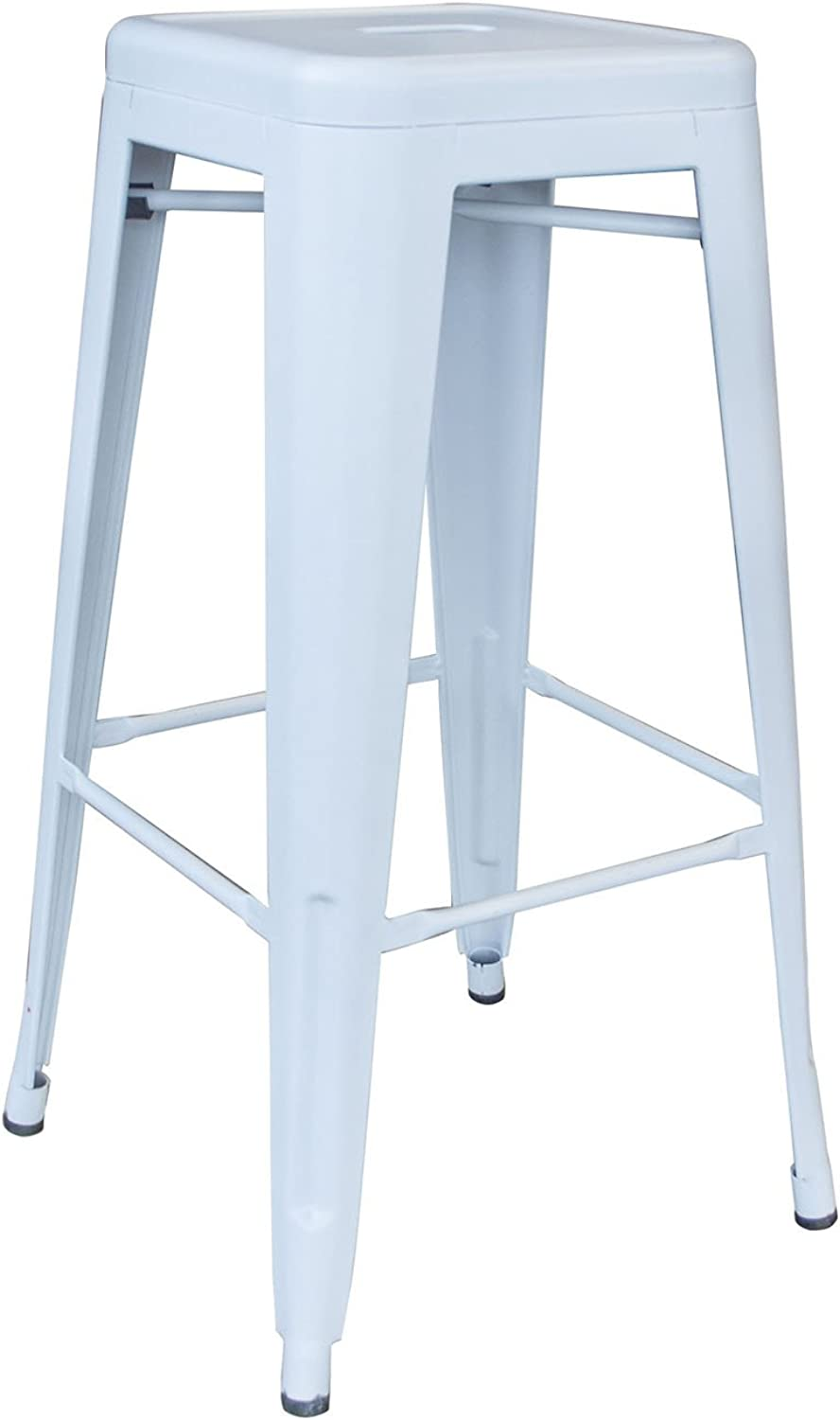 AmeriHome Indoor Outdoor 30 inch Metal Bar Stool White