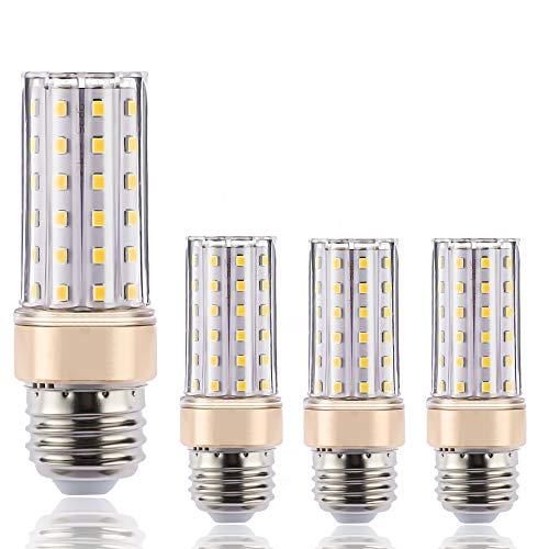 ILAMIQI - Lampadina LED E27, dimmerabile, 10 W, equivalente a 100 Watt, 1200 lm, luce bianca calda, 3000 K senza sfarfallio, confezione da 4 moderno Bianco caldo