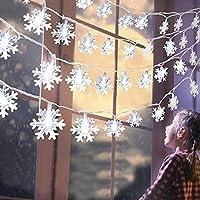 Nnoproto 40 LED 16 Ft Star Christmas Snowflake String Light