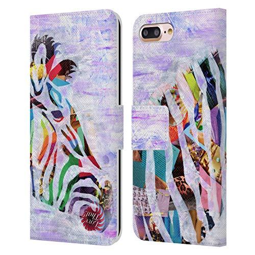 Head Case Designs Licenza Ufficiale Artpoptart Zebra Porpora Animali Cover in Pelle a Portafoglio Compatibile con Apple iPhone 7 Plus/iPhone 8 Plus