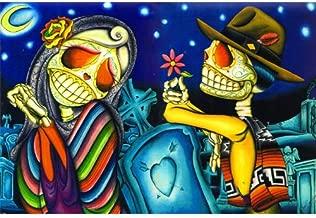 Black Market Art Noche de los Muertos by Dave Sanchez Day of the Dead Lovers Fine Art Print