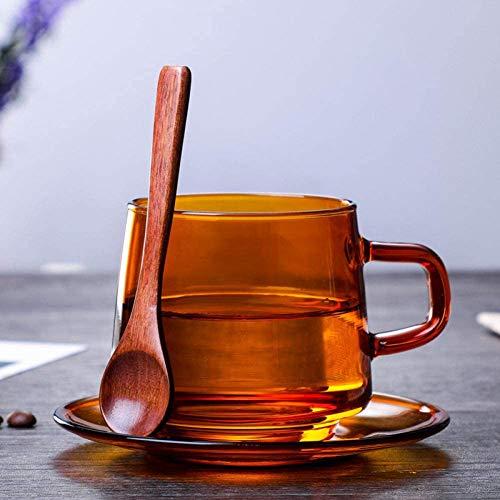 Creative amber glas koffiekopje bestand tegen hoge temperaturen naar huis te brengen ontbijtkop mannen en vrouwen kantoor thee kopje water cup,Brown