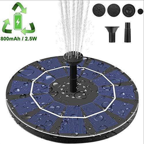 Solar Fountain Outdoor Garden Floating Solar Waterpomp ingebouwde lithium batterij IPX8 Waterdicht Fontein voor Bird Bath, Kleine Vijver, Zwembad
