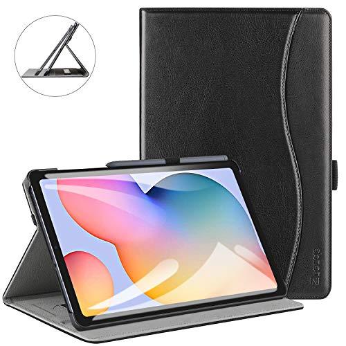 ZtotopCase Hülle für Samsung Galaxy Tab S6 Lite 10.4 2020, Premium Leder Business Folio Bezug mit Ständer, Tasche und Automatischer Wake/Sleep für Samsung S6 Lite 10,4 Zoll 2020 Tablet -Schwarz