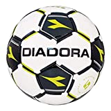 Diadora Unisex Euro Soccer Ball, White, Black, Yellow, 5