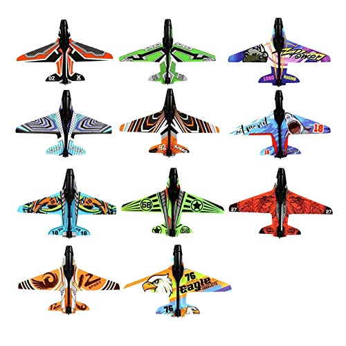 JQU Katapult Flugzeug Segelflugzeug, Kinder Styroporflieger, Flugzeuge Styropor, Katapult Flugzeug, Werfen Fliegen Modell, Outdoor-Sports Flugzeug (10*Flugzeuge)