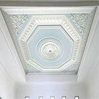 Bosakp カスタム任意のサイズ天井壁画壁紙ヨーロッパスタイルパターンレリーフ石膏天頂壁絵画リビングルームの寝室の家の装飾 360X250Cm