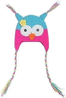 2-7 Years Old Baby Kids Girls Boys Cute Owl Long Braids Knit Hat Winter Cotton Warm Skull Beanies Head Cover Cap Detazhi (...