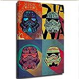 Star Wars Ink Squad - Decoración de pared para baño, diseño de Star Wars, lona, Enmarcado, 18x24