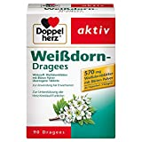 Doppelherz Weißdorn – Arzneimittel traditionell angewendet zur Unterstützung der Herz-Kreislauf-Funktion – 90 überzogene Tabletten