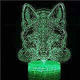 Lampada da tavolo a forma di testa di animale 3D Lampada da tavolo a LED Decorazione natalizia Lampada da tavolo con decorazione regalo di festa