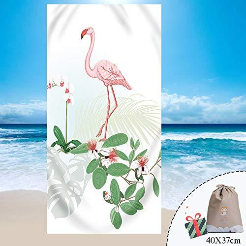 Fansu Telo Spiaggia Antisabbia Microfibra Grande Assorbente Serie Di Fenicotteri Rosa, Rettangolo Beach Coperta Da Spiaggia Tovaglia In Telo Da Mare Nuoto, Sport, Yoga (150 * 180Cm,Rosso)