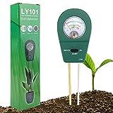 ATUIO - 3 in 1 Bodentester, Boden Feuchtigkeit Meter, Boden Fruchtbarkeit und PH Meter, [Kann Unter Indoor & Outdoor], [für Pflanzenerde & Bauernhof], [Kein Batterien Erforderlich]