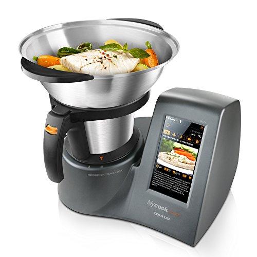 Taurus Mycook Touch - Robot de cocina por inducción de 40 a 140º C, pantalla táctil de 7